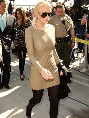 Lindsay Lohan Court Dress