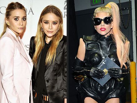 Lady Gaga Ashley Olsen and Mary-Kate Olsen