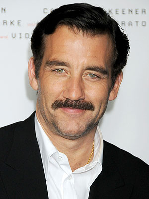 Clive Owen Grows a Mustache