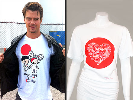 Celebrity T-shirts for Japan