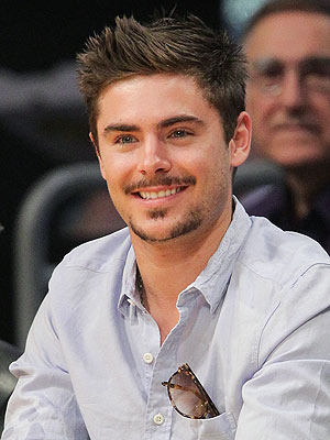 Zac Efron Mustache and Beard