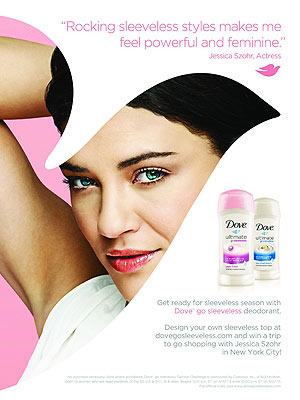 Jessica Szohr for Dove
