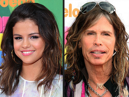 Steven Tyler and Selena Gomez Wear Feathers in Their Hair