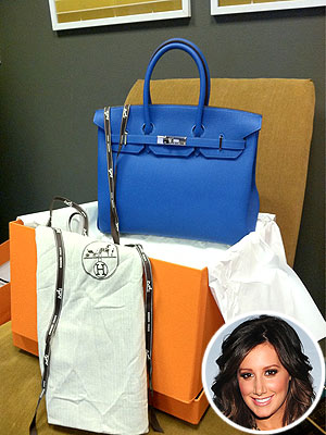 Ashley Tisdale Buys a Birkin Bag