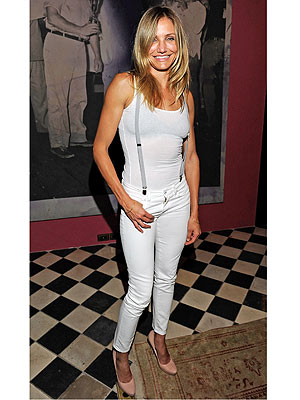 Cameron Diaz Wears Suspenders