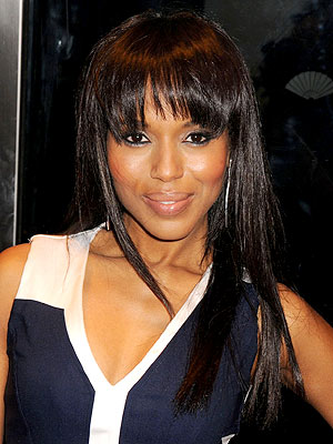 Kerry Washington Cuts Blunt Bangs