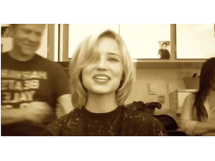 Dianna Agron haircut video