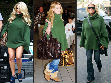 Jessica Simpson Green Sweater
