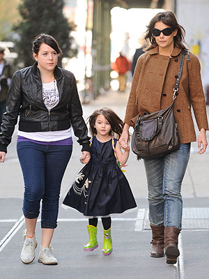 Katie Holmes and Bella Cruise
