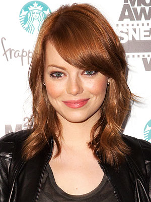 Emma Stone Blonde Hair to Red Hair