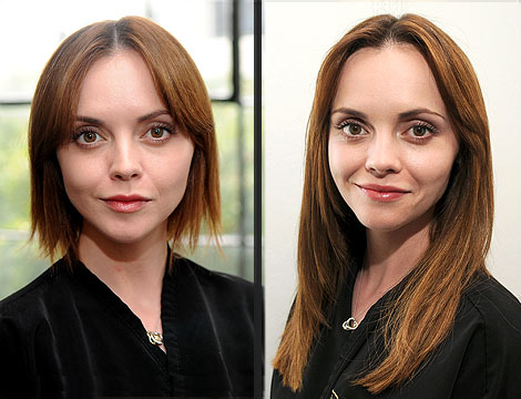 Christina Ricci Lengthens Her Locks