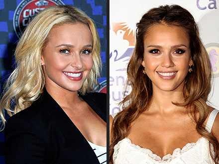 Jessica Alba, Hayden Panettiere Hair