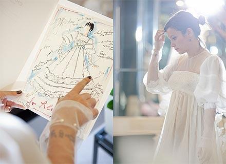 Lily Allen Chanel Wedding Reception Dress