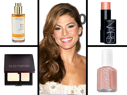 How to Nail Eva Mendes's Peachy Glow