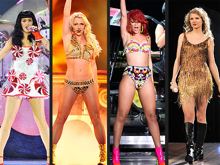 Britney Spears, Rihanna Tour Costumes