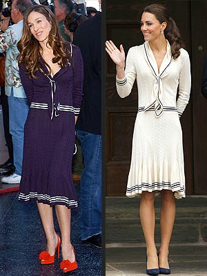 Sarah Jessica Parker, Kate Middleton in McQueen