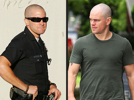 Matt Damon, Jake Gyllenhaal Bald