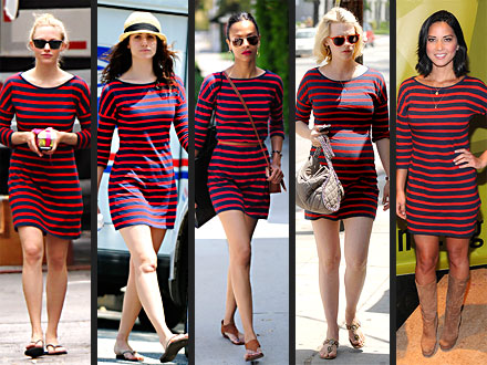 Zoe Saldana, Amanda Seyfried: Express dress