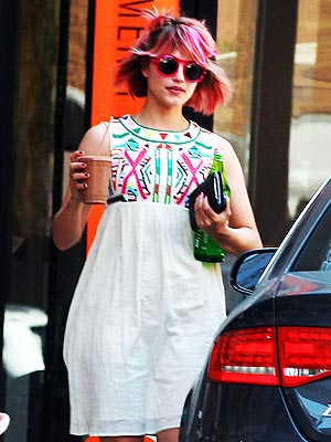 Dianna Agron Hot Pink Hair