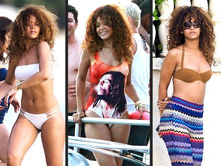 Rihanna in Bikinis