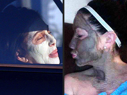 Cher and Bristol Palin Wear Mud Masks