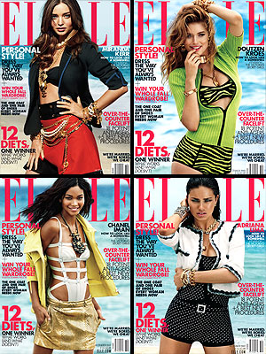 Victoria's Secret Models in ELLE