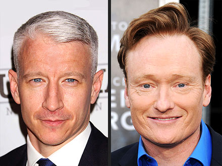 Anderson Cooper and Conan O'Brien Hair