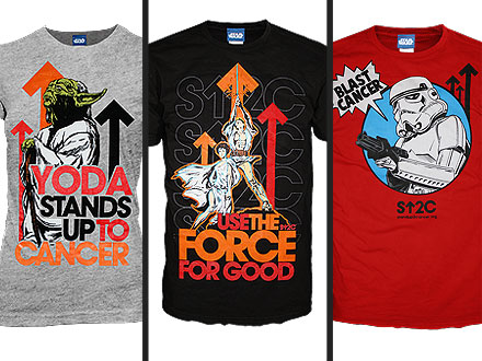 Stand Up To Cancer Star Wars Shirts
