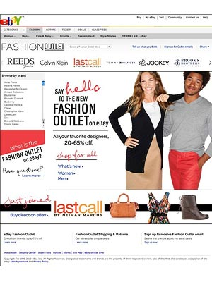 Ebay launches fashion outlet
