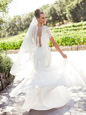 Molly Sims Wedding Gown
