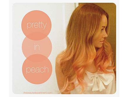 conrad dyed ends hair peach week beautydepartment readers people reports