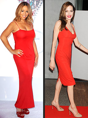Angelina Jolie, Mariah Carey Dresses