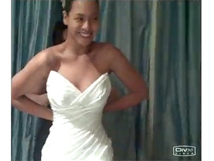 Beyonc reveals her wedding gown for the very first time in her latest