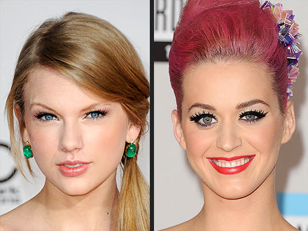 Taylor Swift, Katy Perry AMAs Makeup