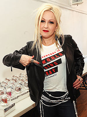 Cyndi Lauper World AIDS Day Makeup