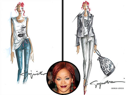 Rihanna Armani Collection