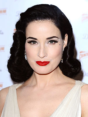 dita von teese 300x400 Dita Von Teese Gets Custom Christian Louboutin Ballet Shoes