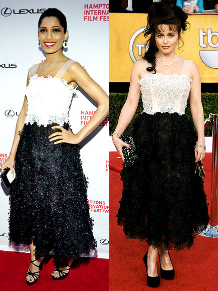 FREIDA VS. HELENA photo | Freida Pinto, Helena Bonham Carter