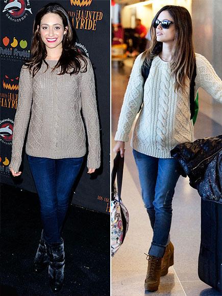 Emmy Rossum Sweater