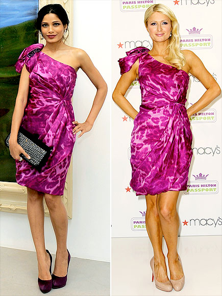 FREIDA VS. PARIS photo | Freida Pinto, Paris Hilton