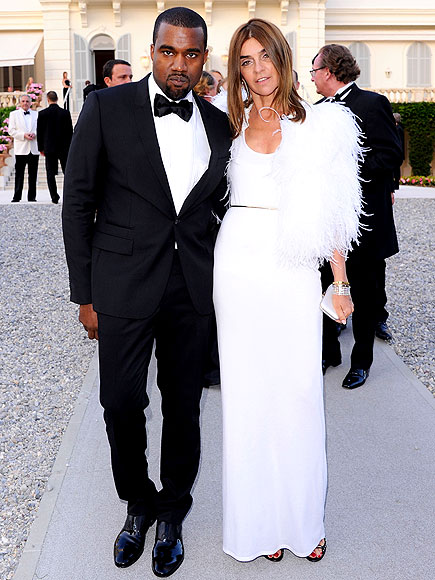 KANYE WEST AND CARINE ROITFELD