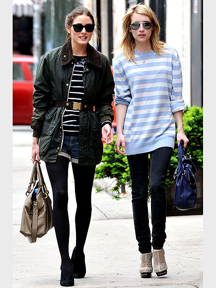 JUDGING JEANS  photo | Emma Roberts, Olivia Palermo