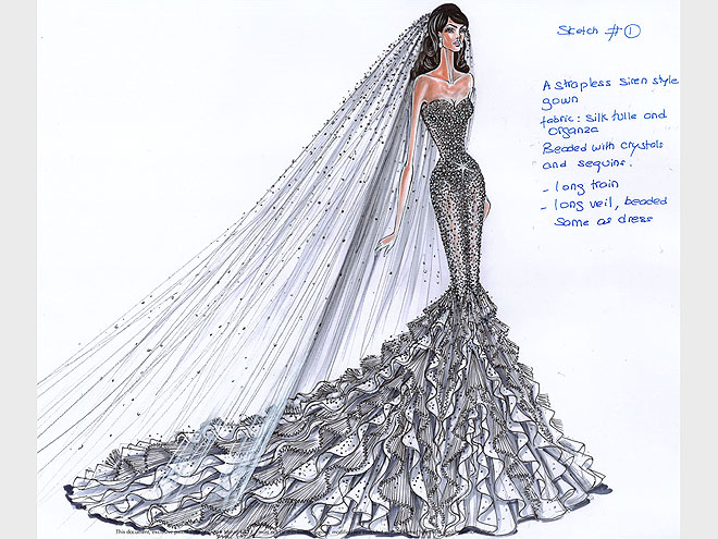The bride wore vera wang but see how zuhair murad reem acra and