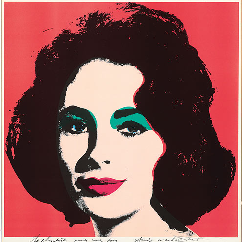 ANDY WARHOL IMAGE photo | Elizabeth Taylor