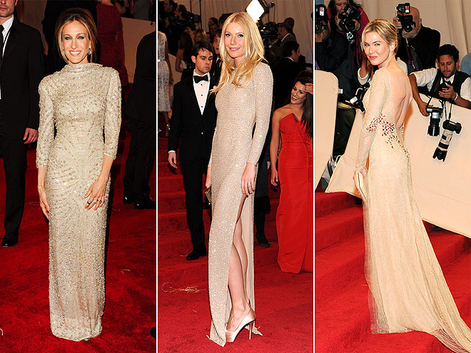LONG-SLEEVED NUDE GOWNS photo | Gwyneth Paltrow, Renee Zellweger, Sarah Jessica Parker