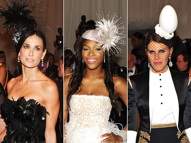 OVER-THE-TOP HATS photo | Demi Moore, Serena Williams