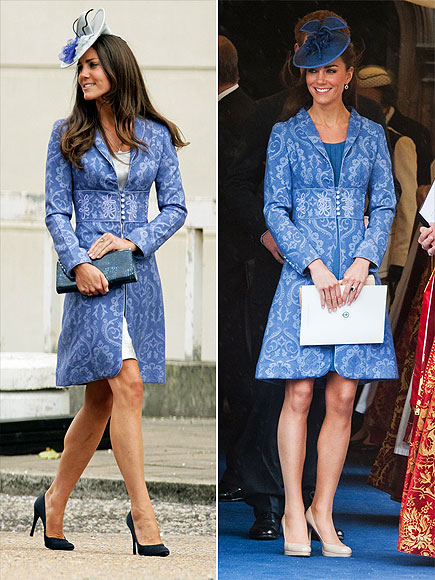 BLUE BROCADE COAT