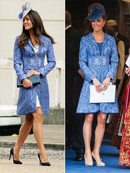 BLUE BROCADE COAT   photo | Kate Middleton