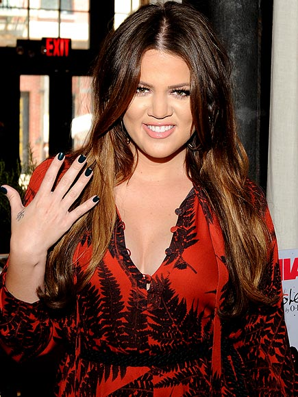 SEMI-MATTE NAVY photo | Khloe Kardashian