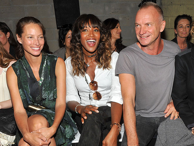 CHRISTY TURLINGTON, NAOMI CAMPBELL & STING photo | Christy Turlington, Naomi Campbell, Sting